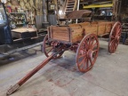 restored single sided farm wagon