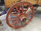 farm wagon - view of new wheel